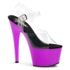 ADORE-708UV Clear/Neon Purple